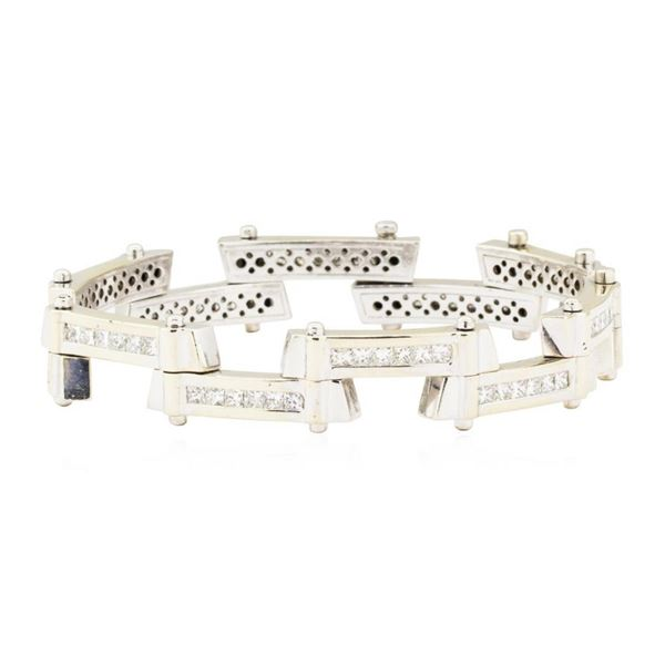 7.75 ctw Diamond Staggered Bar Bracelet - 18KT White Gold