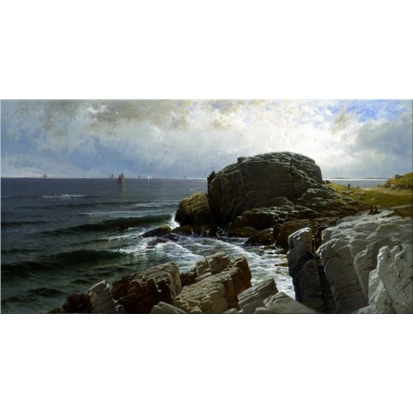 Alfred Thompson Bricher - Castle Rock, Marblehead