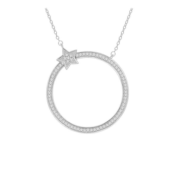 14K White Gold 0.20 ctw Diamond Necklace, (I2-I3/G-I)
