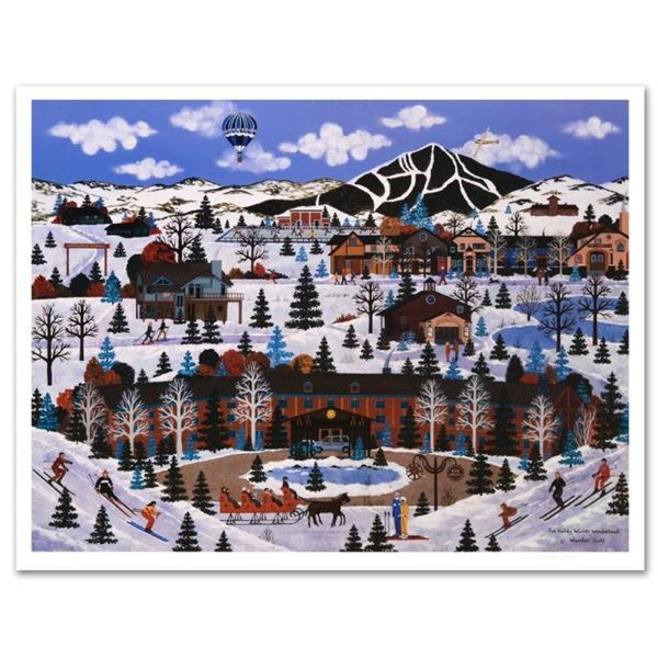 "Jane Wooster Scott, ""Sun Valley Winter Wonderland"" Hand Signed Limited Edition L"
