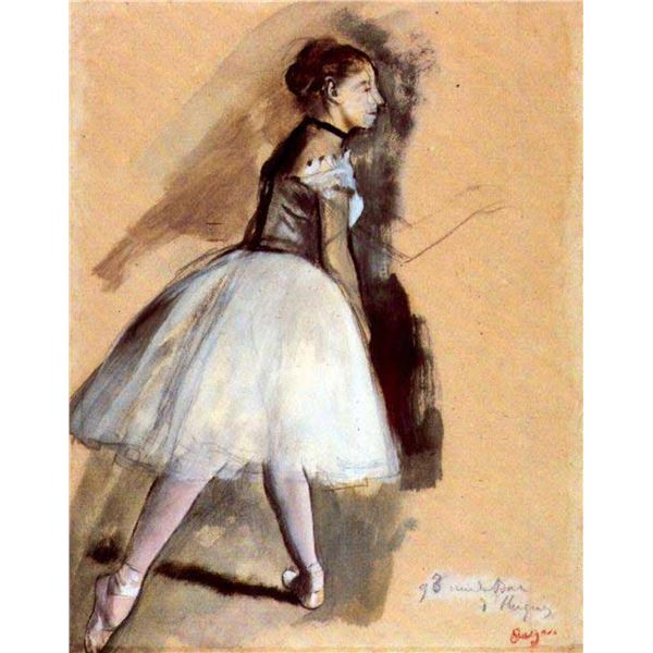 Edgar Degas - Dancer In Step Position #1