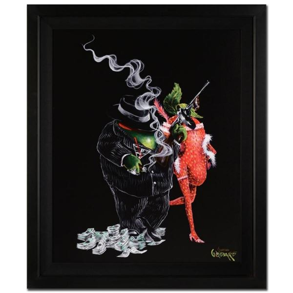 "Michael Godard, ""Gangster Love"" Framed Limited Edition on Canvas, Numbered and S"