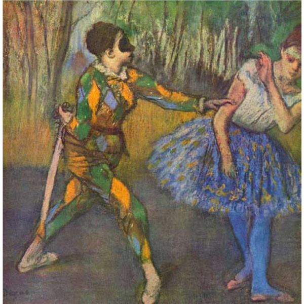 Edgar Degas - Harlequin And Colombine