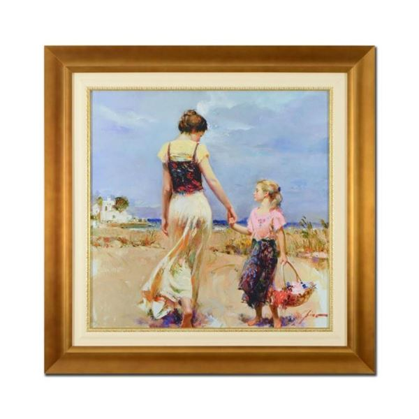 "Pino (1939-2010), ""Let's Go Home"" Framed Limited Edition Artist-Embellished Gicl"