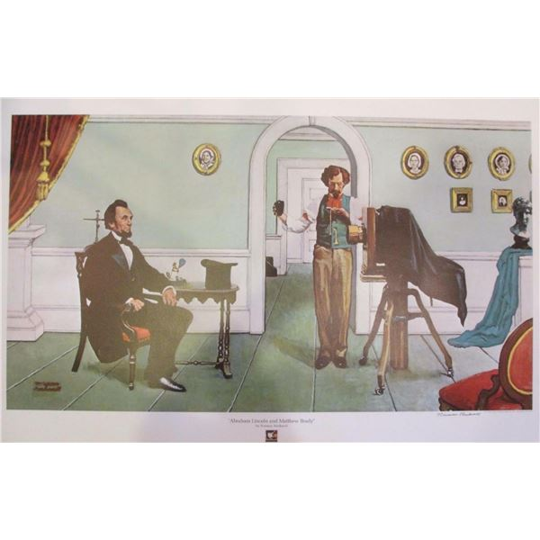 "Norman Rockwell ""Abraham Lincoln & M. Brady"""