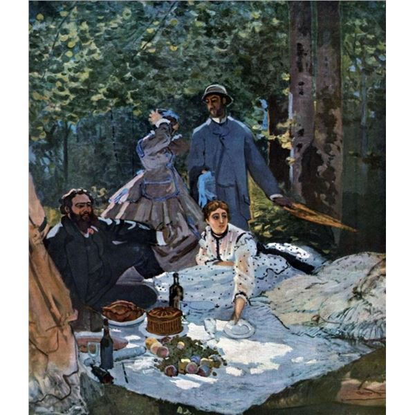 Claude Monet - The Breakfast Outdoors, Central Section