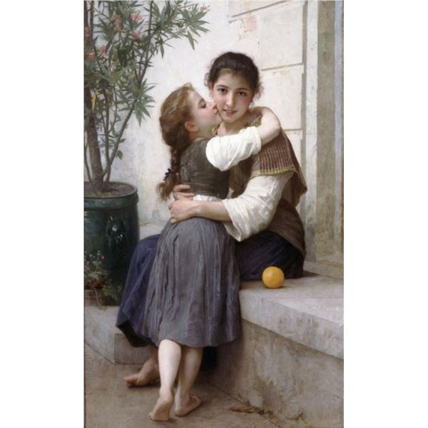 William Bouguereau - A Little Coaxing 1890