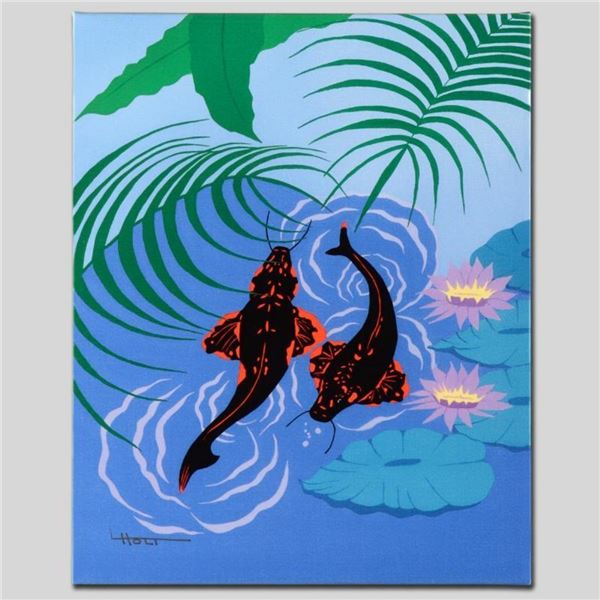 """Koi Garden"" Limited Edition Giclee on Canvas by Larissa Holt, Numbered and Sign"
