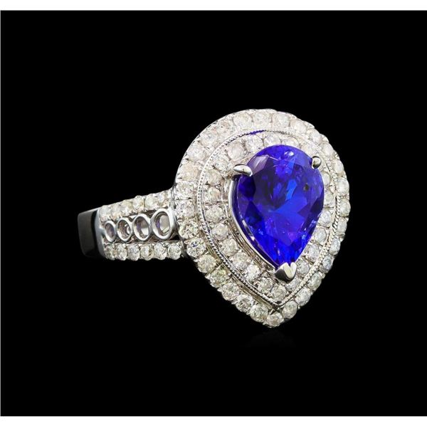 14KT White Gold 2.35 ctw Tanzanite and Diamond Ring