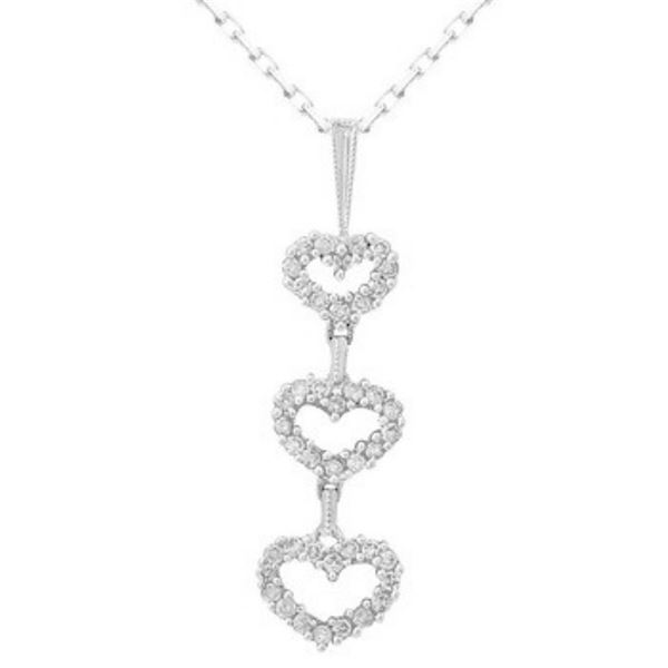 18k White Gold 0.49CTW Diamond Pendant, (SI2-SI3/H-I)