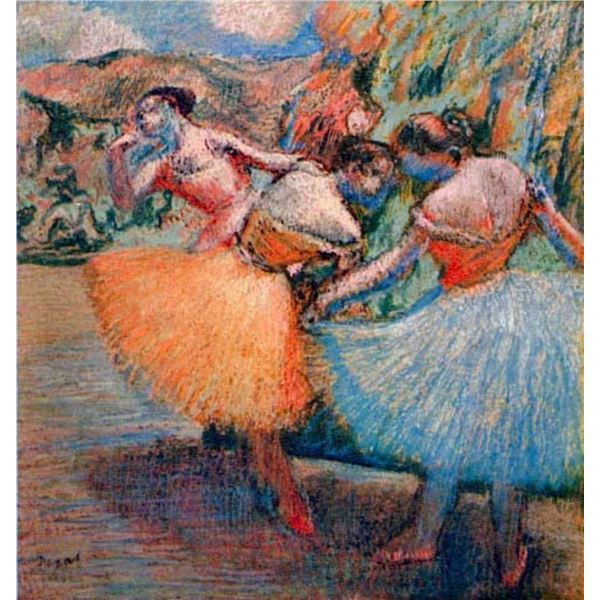 Edgar Degas - Three Dancers #1