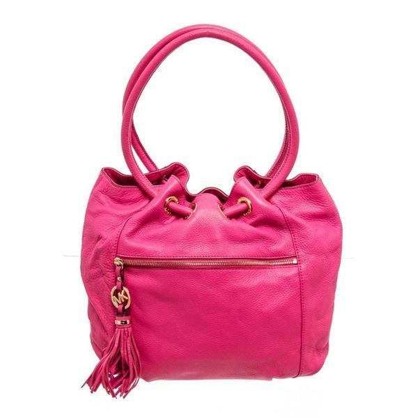 Michael Kors Pink Leather Knox Hobo Bag