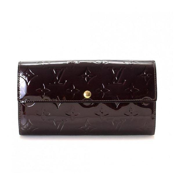 Louis Vuitton Amarante Vernis Leather Sarah Wallet