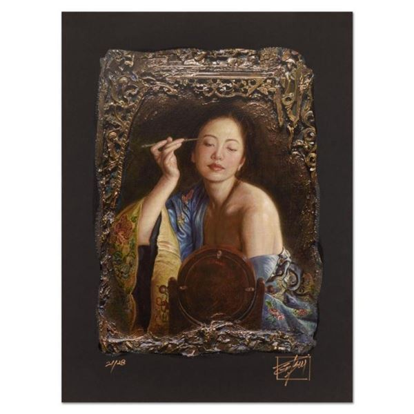"""George Tsui, """"Painting Eyebrow"""" Limited Edition Chiarograph, Numbered and Hand S"""