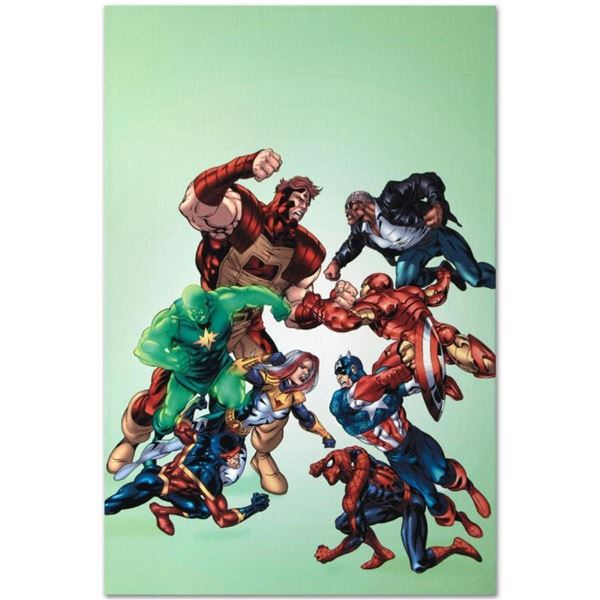 """Marvel Comics """"New Thunderbolts #3"""" Numbered Limited Edition Giclee on Canvas by"""