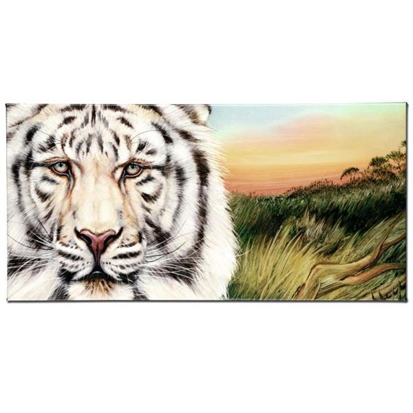 """White Bengal"" Limited Edition Giclee on Canvas by Martin Katon, Numbered and Ha"