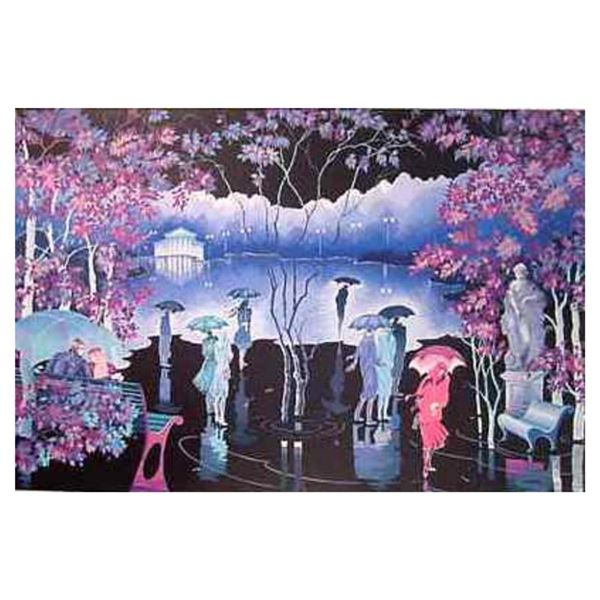"Zina Roitman, ""Rainy Night"" Hand Signed Limited Edition Serigraph with Letter of"