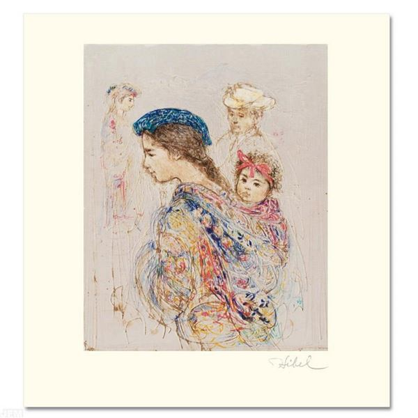 """Guatemalan Mother and Baby"" Limited Edition Lithograph by Edna Hibel (1917-2014"