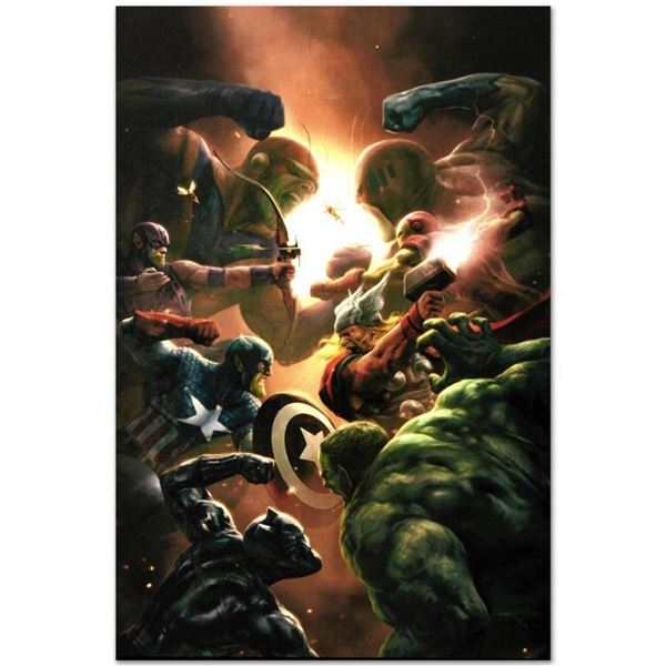 "Marvel Comics ""New Avengers #43"" Numbered Limited Edition Giclee on Canvas by Al"