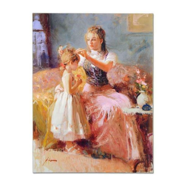 """Pino (1939-2010), """"Little Lady"""" Artist Embellished Limited Edition on Canvas (30"""