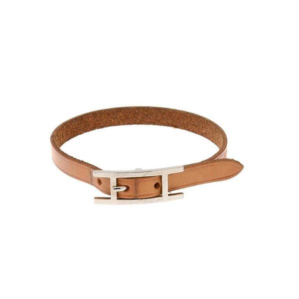 Hermes Brown Hapi 21cm Bracelet