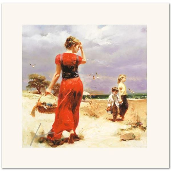 """Pino (1939-2010) """"Seaside Gathering"""" Limited Edition Giclee. Numbered and Hand S"""