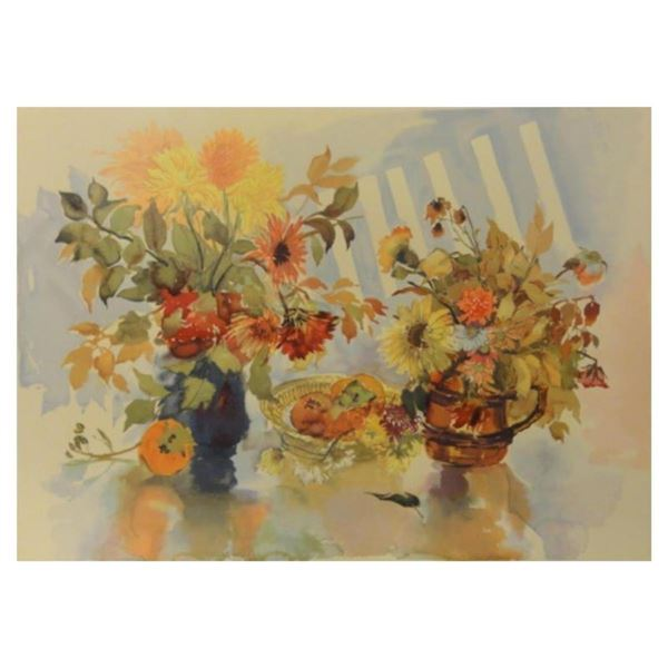 """Zina Roitman, """"Still Life"""" Hand Signed Limited Edition Serigraph with Letter of"""