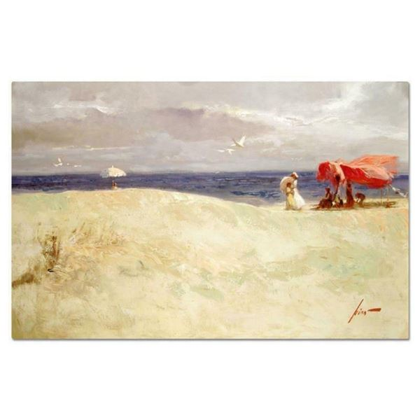"""Pino (1939-2010), """"White Sand"""" Artist Embellished Limited Edition on Canvas (40"""""""