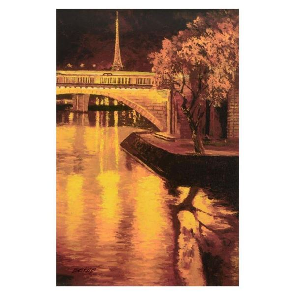 """Howard Behrens (1933-2014), """"Twilight On The Seine I"""" Limited Edition on Canvas,"""