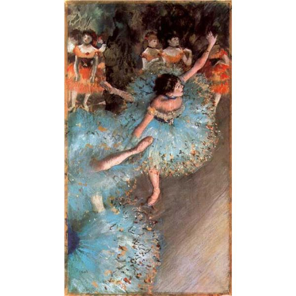 Edgar Degas - The Greens Dancers