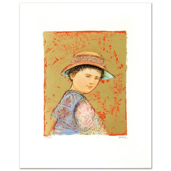 """""""Joel"""" Limited Edition Lithograph by Edna Hibel (1917-2014), Numbered and Hand S"""
