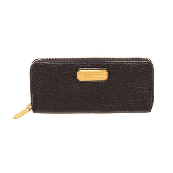 Marc By Marc Jacobs Black Leather Classic Q Zippy Wallet