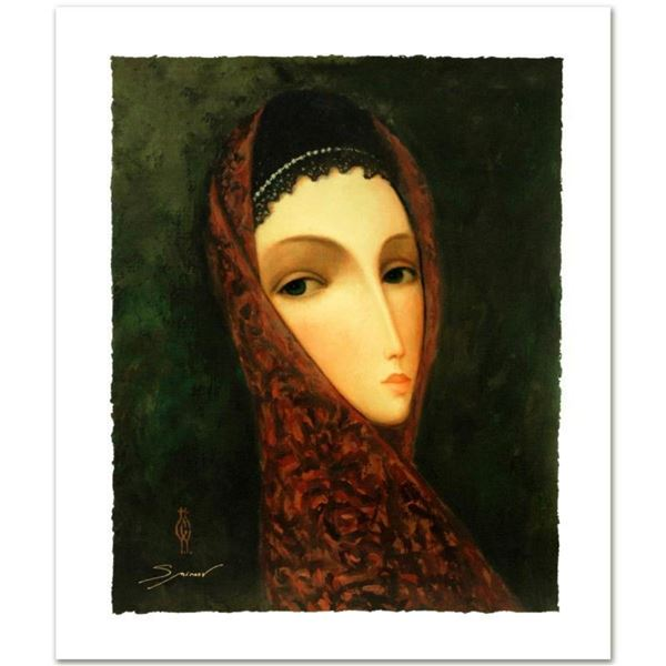 "Sergey Smirnov (1953-2006), ""Contessa"" Limited Edition Mixed Media on Canvas, Nu"