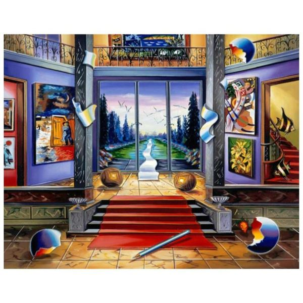 "Alexander Astahov, ""Red Carpet"" Hand Signed Limited Edition Giclee on Canvas wit"