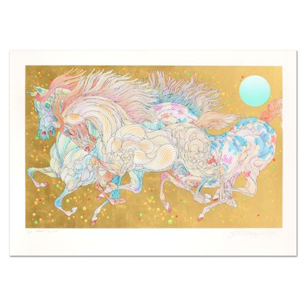 """Guillaume Azoulay, """"Stardust"""" Limited Edition Serigraph with Hand Laid Gold Leaf"""