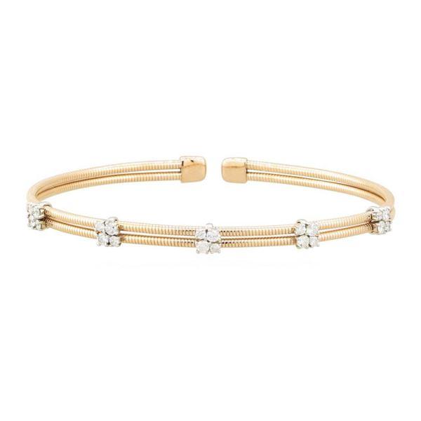 0.64 ctw Diamond Bracelet - 14KT Rose Gold
