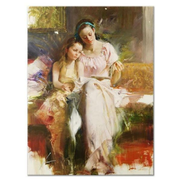 """Pino (1939-2010), """"Bedtime Stories"""" Artist Embellished Limited Edition on Canvas"""