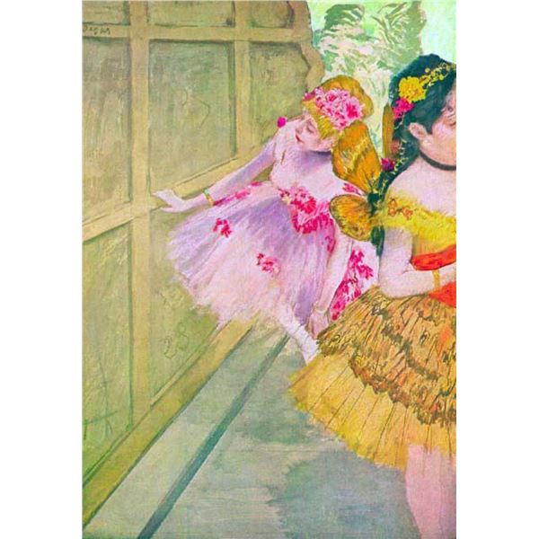 Edgar Degas - Dancers Behind A Backdrop