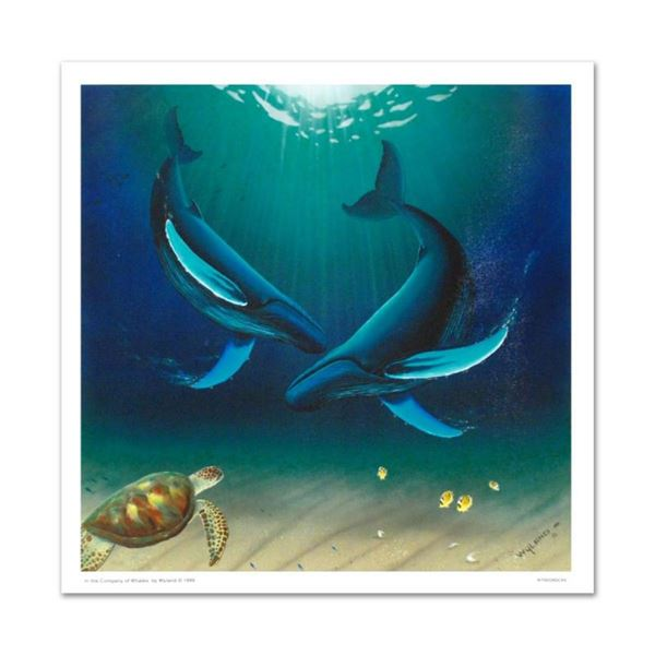 """""""In the Company of Whales"""" Limited Edition Giclee on Canvas by renowned artist W"""