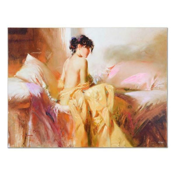 "Pino (1939-2010), ""Royal Beauty"" Artist Embellished Limited Edition on Canvas (4"