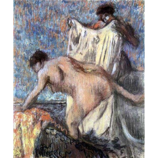 Edgar Degas - After Bathing #3