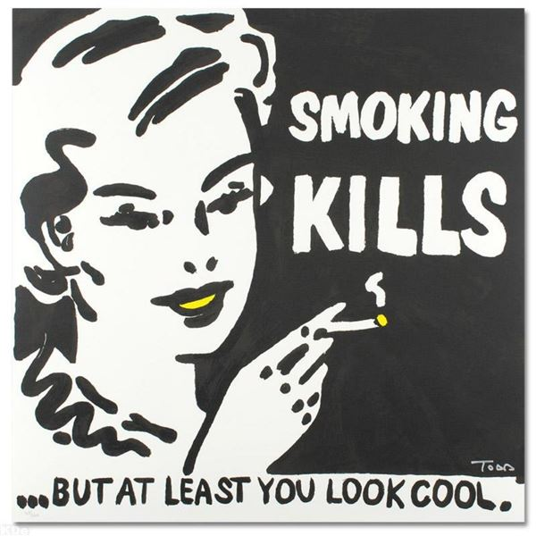 """Smoking Kills"" Limited Edition Lithograph by Todd Goldman, Numbered and Hand Si"