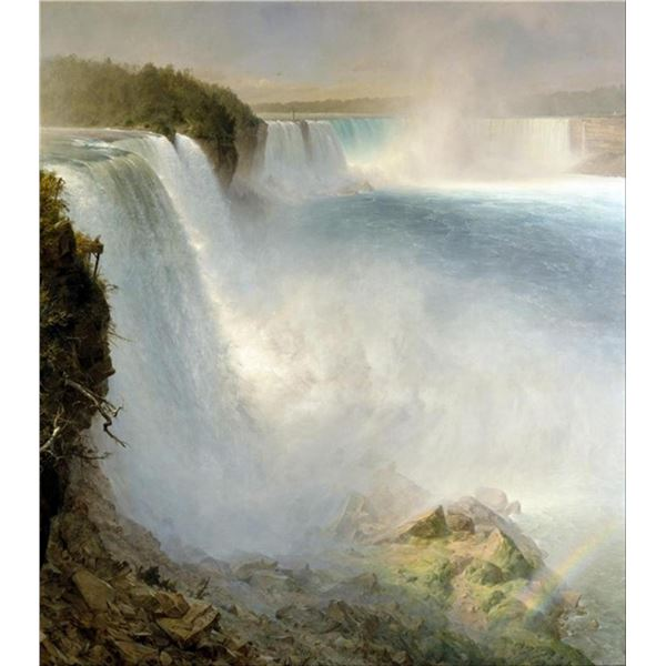 Frederic Edwin Church  - Niagra Falls from the American Side