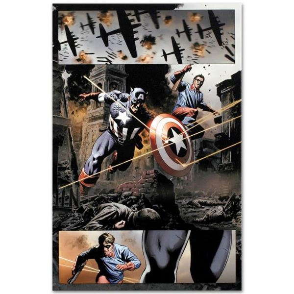 """Marvel Comics """"Captain America #37"""" Numbered Limited Edition Giclee on Canvas by"""