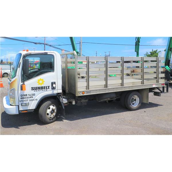 2010 Isuzu Stakebed Truck with Lift Gate, Lic. 969HDR, Starts & Runs, Needs Repair (See Video)