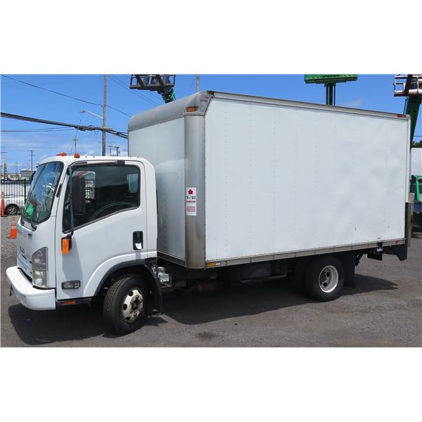 2013 Isuzu Box Truck with Lift Gate, Lic. 501TVA, Starts & Runs, No Known Problems (See Video)