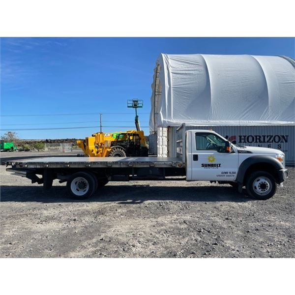 2015 Ford F450 Flatbed Truck 16'  with Liftgate - Needs Repair