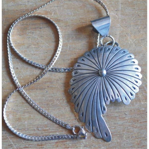 Navajo silver pennant