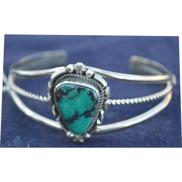 nice B. Jiminez Red Mountain turquoise and silver bracelet
