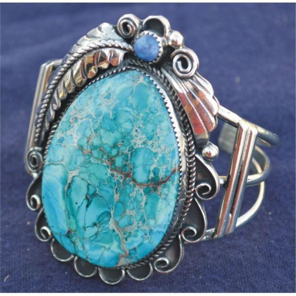 sea jasper and silver bracelet